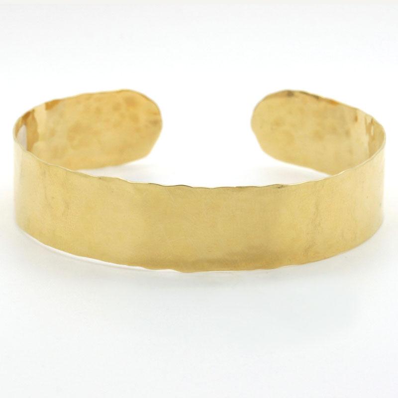 18K Yellow Gold Narrow Cuff Bracelet - Item # B5339 - Reliable Gold Ltd.