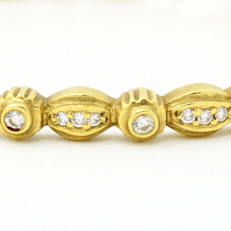 Designer Diamond Bangle - Item # B5344J - Reliable Gold Ltd.