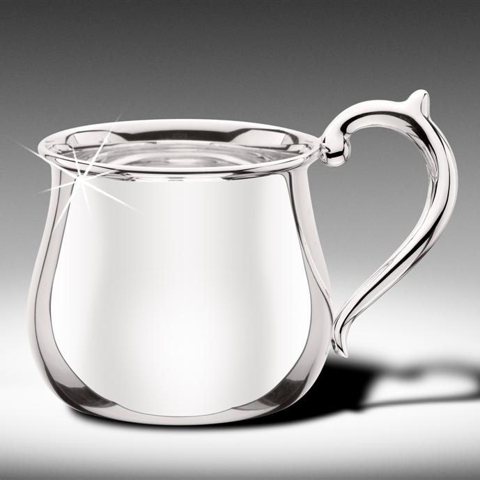 Sterling Silver Bulged Baby Cup - Item # CUPB - Reliable Gold Ltd.