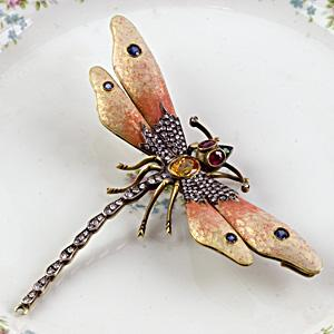 Dragonfly Pin - Item # P2991 - Reliable Gold Ltd.