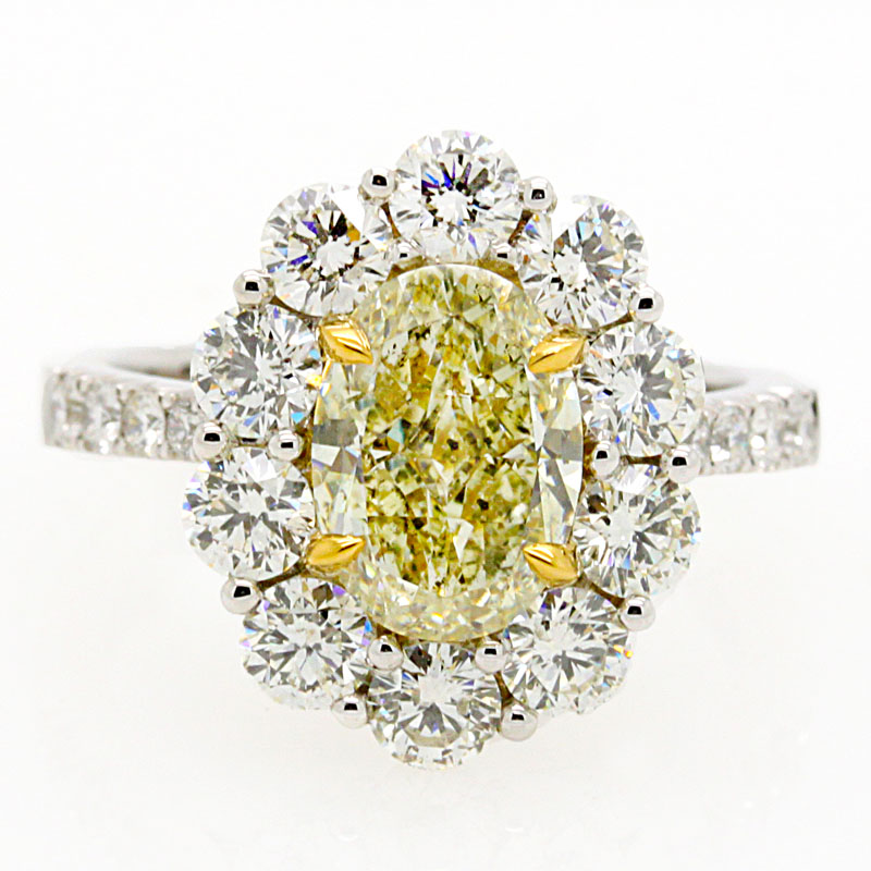 2.0 Carat Oval Yellow Diamond Sparkler - Item # R6040 - Reliable Gold Ltd.