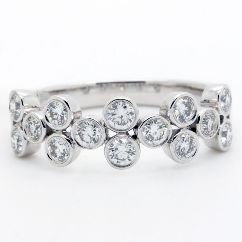 Bezel Set Diamond Band - Item # R6145 - Reliable Gold Ltd.