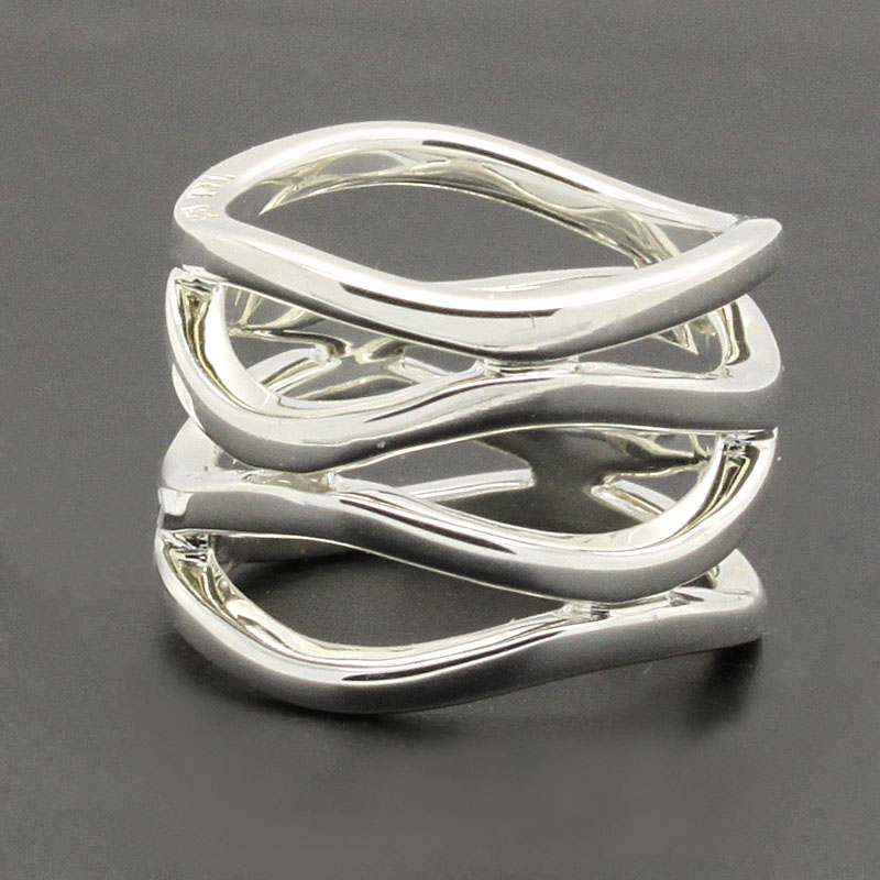 Wavy Sterling Silver Ring - Item # R6291 - Reliable Gold Ltd.