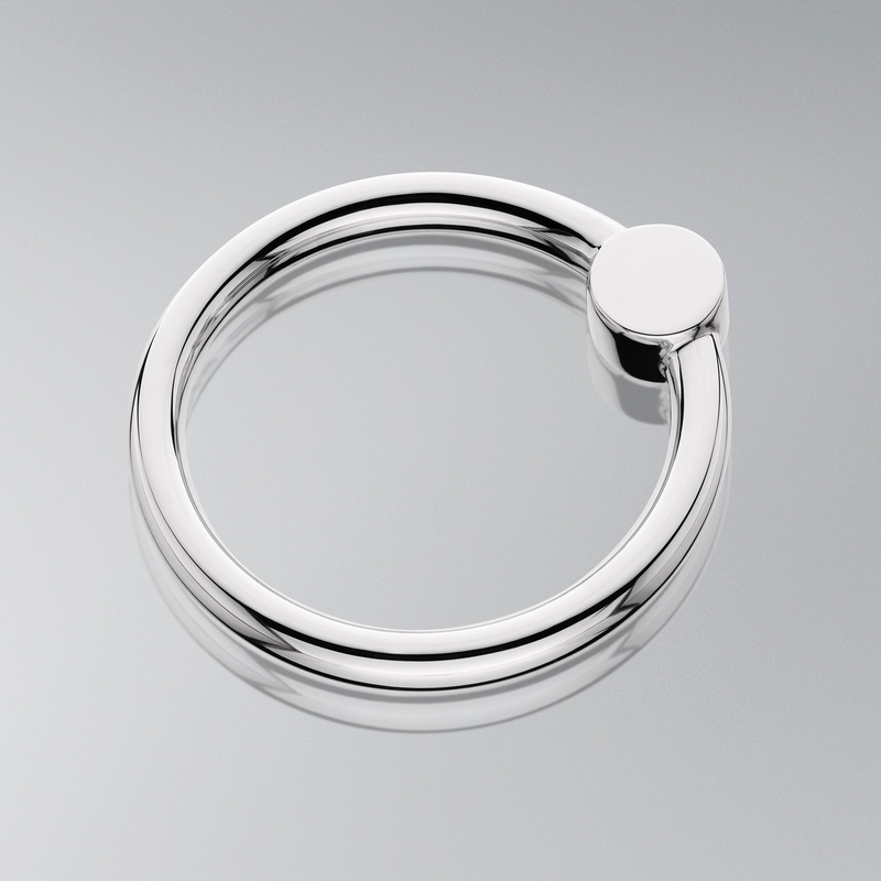 Sterling Silver Circle Rattle - Item # RATCIR - Reliable Gold Ltd.