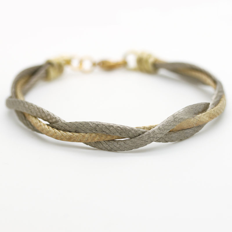 Silver and Gold Twist Bracelet Over Copper - Item # B0028 - Reliable Gold Ltd.