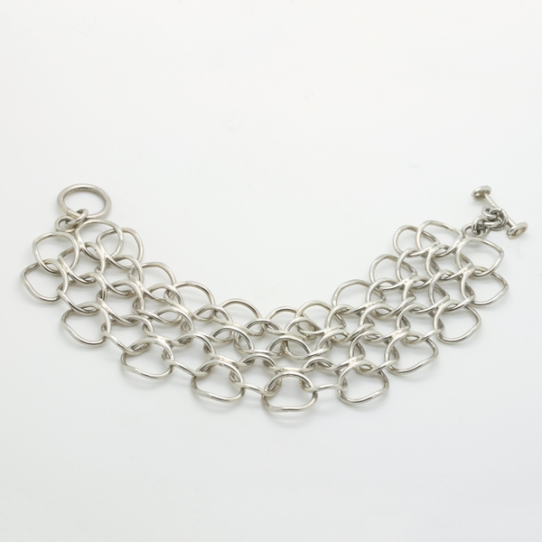 Sterling Silver Chain Mail Bracelet - Item # B0124 - Reliable Gold Ltd.